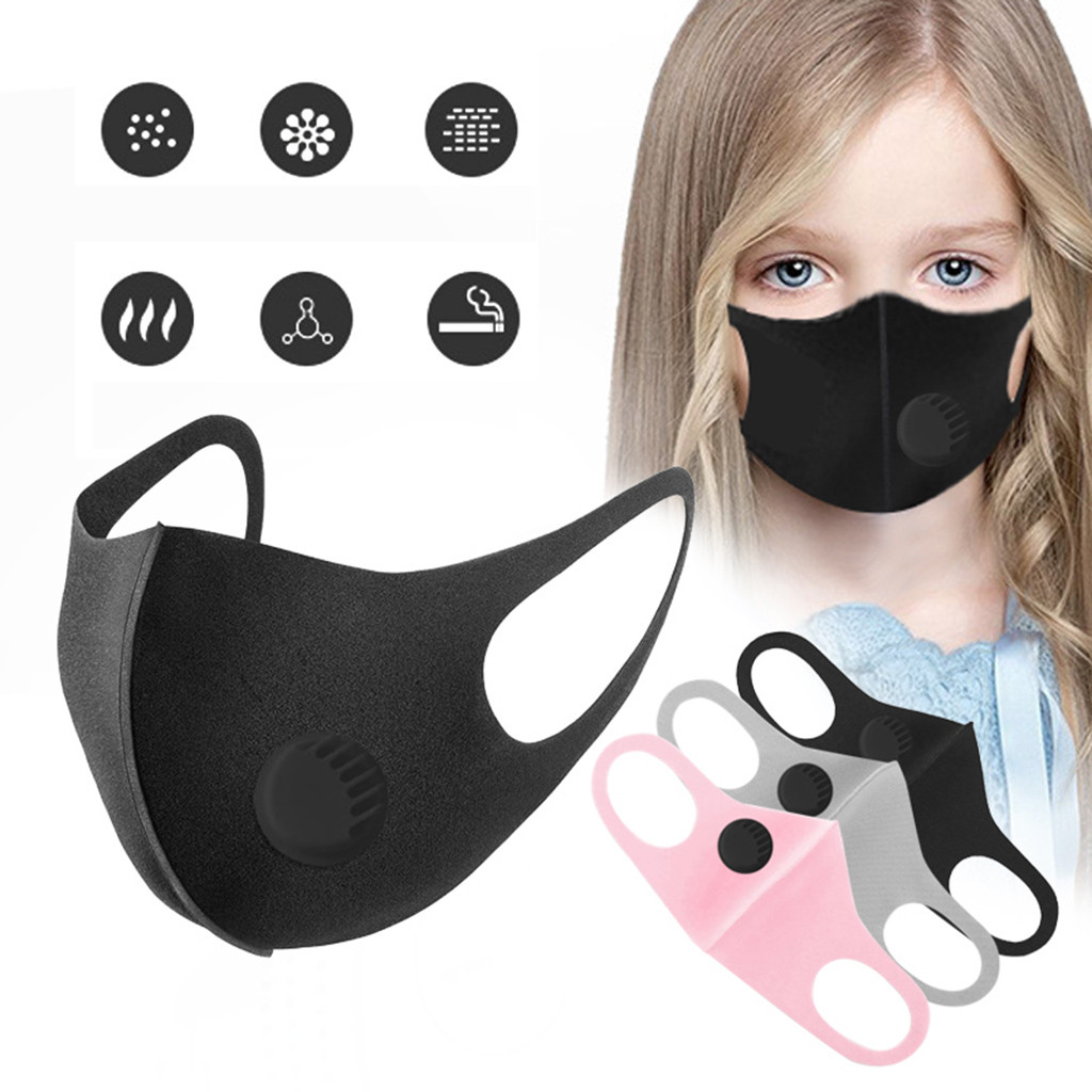 Children Smoke Dust Air Purifying Face Carbon Filter Multi Lay Protective Particle Respirator Reusable Earloop Respirator#E20