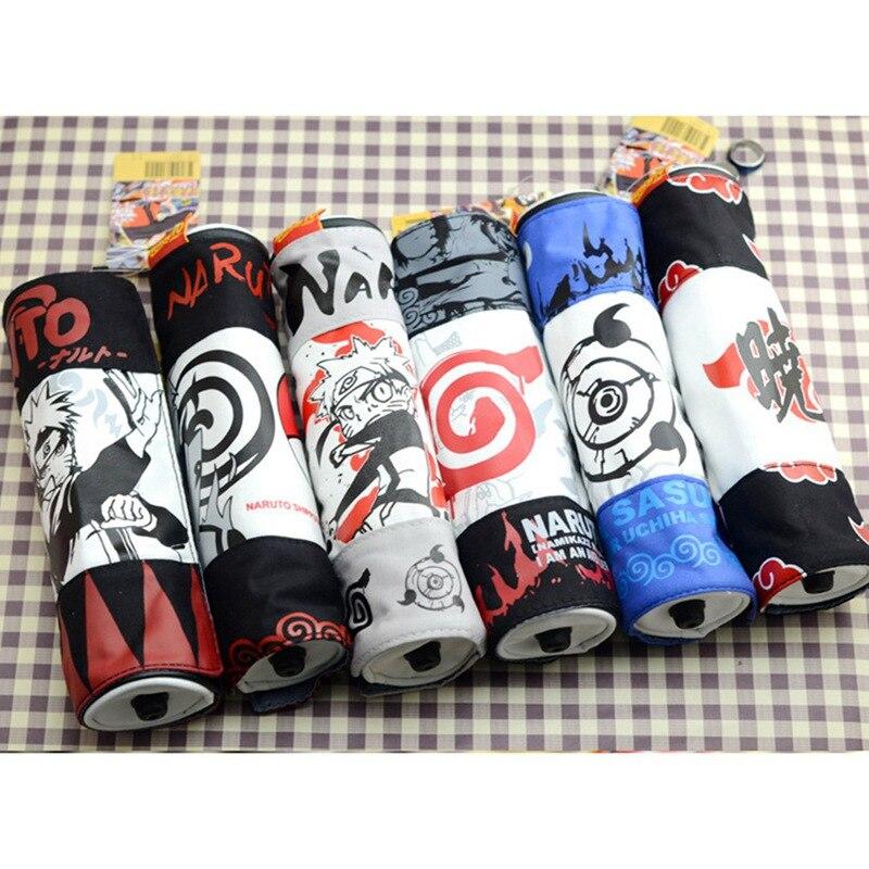 Naruto Canvas Pencil Box Boy Student Fashion Personality Scroll Pen School Supplies Pencilcase School Pencil Cases