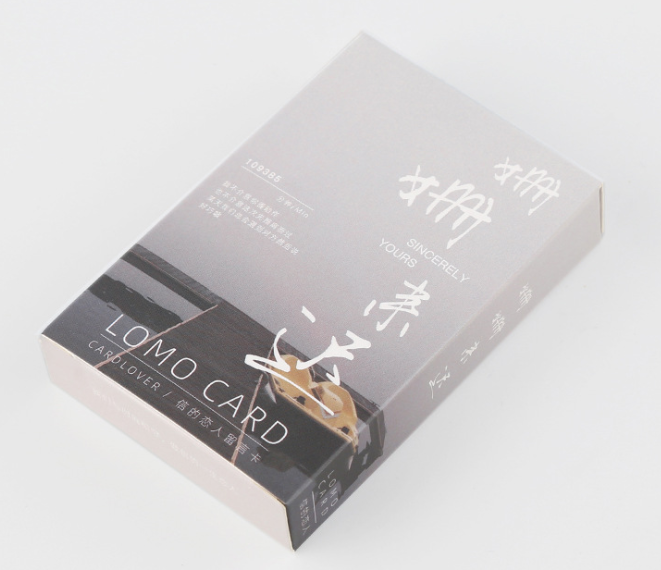 52mm*80mm Come Late Paper Lomo Cards(1pack=28pieces)
