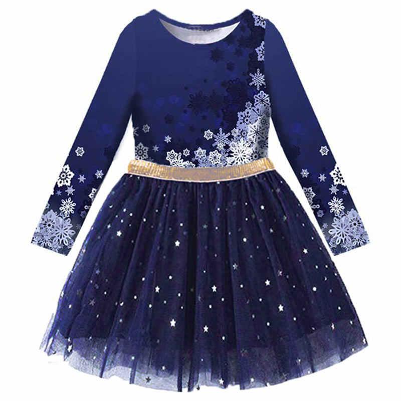VIKITA/Детское платье для девочек; платье принцессы с бабочками и блестками; Детский Рождественский костюм; осенне-зимнее платье для девочек; одежда