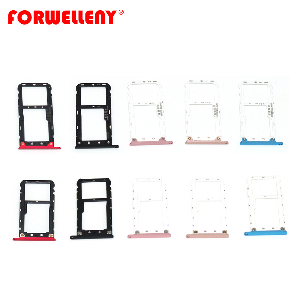 For Xiaomi Xiomi Redmi Note5 Note 5 Micro Sim Card Holder Slot Tray Replacement Adapters Black Pink Gold Blue Red