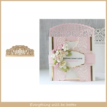 Lace Flower Hollowed Frame Metal Cutting Dies Make Cards Fold Card DIY Scrapbook Crafts New Die Cut Hot Stencils Embossing Paper cute baby clothes bow lace leather belt button metal cutting dies diy scrapbook craft new stencils make cards embossing paper