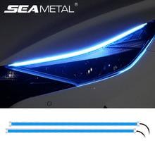 12V Auto Led Licht Streifen DRL Tagfahrlicht Lampe Streifen Flexible LED Auto Scheinwerfer Oberfläche Dekorative Lampe Blinker lichter