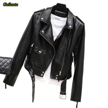 Guilantu frauen Faux Pu Leder Motorrad Mantel Frauen 2020 Frühling Herbst Mode Schwarz Biker Weiche Jacke Weibliche