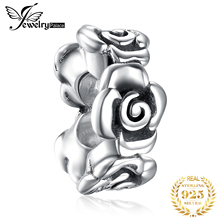 JewelryPalace Flower 925 Sterling Silver Beads Charms Original Fit Bracelet original Jewelry Making