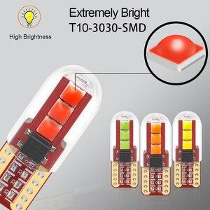 Image 3 - 100 sztuk T10 LED W5W oświetlenie tablicy rejestracyjnej 3030LED 3SMD z obiektywem Auto Wedge Turn Side żarówki wnętrze czytanie lampa kopułkowa hurtownie