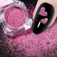 1กล่อง1G Glitter Powder Shiningน้ำตาลเล็บGlitterผงฝุ่นสำหรับตกแต่งเล็บเล็บGlitterผง