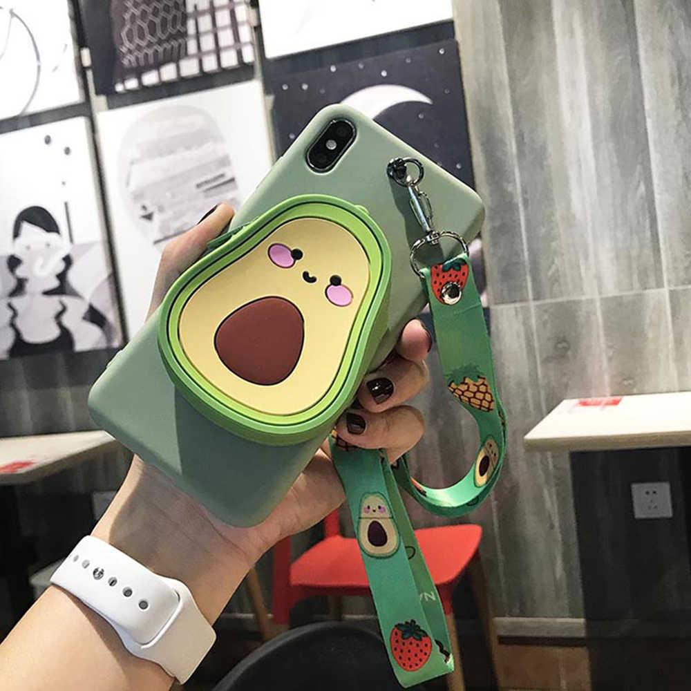 3d bonito dos desenhos animados urso carteira caso de telefone para huawei p20 lite p30 lite companheiro 20 pro companheiro 10 companheiro 30 pro cordão capa de silicone macio