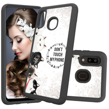 цена на 2 In 1 Hybrid Phone Cases for Samsung Galaxy A50 A30 A20 A20e Note 10 Pro Case Back Cover Hard PC Soft TPU Shockproof Coque Gift