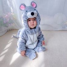 Umorden Baby Boys Little Mouse Kigurumi Costume Infant Toddler Child Winter Pajamas Jumpsuit Onesies Flannel Birthday Clothes
