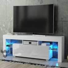 Entertainment-Stand Cabinet-Unit Monitor Modern TV with Led-Strip Remote-Control Home-Decor