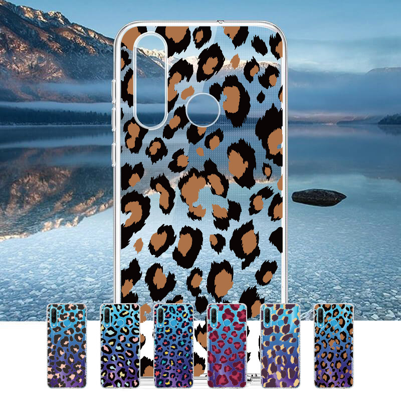 Fashion <font><b>Sexy</b></font> Leopard Print Panther For Huawei Honor <font><b>Mate</b></font> 10 <font><b>20</b></font> Nova P20 P30 P40 P Smart Soft Crystal Slim Protective Clear Case image