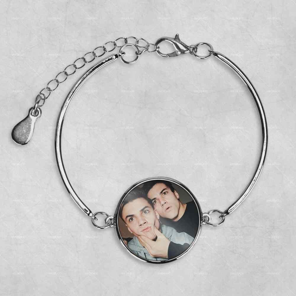 Los gemelos Dolan personalizado foto pulsera foto joyería foto pulsera foto regalos foto regalo
