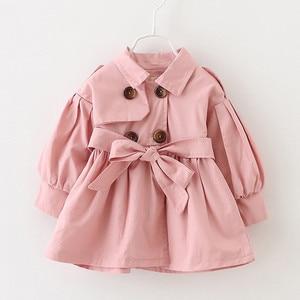 Frete grátis outono inverno menina trench estilo francês crianças roupas do bebê menina blusão da criança casaco jaqueta crianças roupas