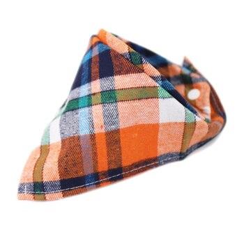 Hylidge Snap Baby Triangle Bandana Bibs Saliva Towel Scottish Fashion Plaid Baby Cotton Bibs Baby Boy Scarf Feeding Burp Cloths 1