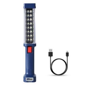 Image 2 - Мощный Рабочая вспышка светильник супер яркий USB Перезаряжаемые Магнитная Рабочая лампа крючок встроенный Батарея фонарь светильник на открытом воздухе