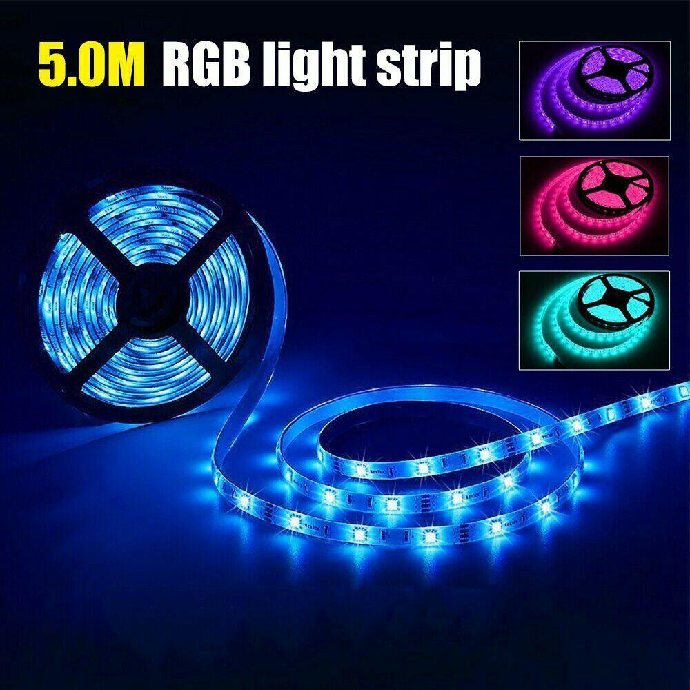 1-5M USB 5050 RGB LED Strip Light Bluetooth Remote APP Control LED TV Backlight