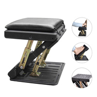 Adjustable Footrest with Removable Soft Foot Rest Pad Max Load 120Lbs for Car,Under Desk, Home, Train ,4 Level Height Adjustment
