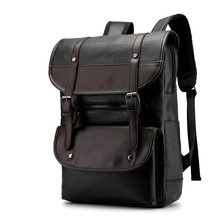 Men Backpack Mens Backpacks for Teenager Luxury Designer puLeather Male High Quality Travel Black
