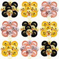 10pcs 12 Inch Black Gold Crown Sequined Balloons /18 21 30 40 50 Anniversary Adult Birthday Party Room Background Decoration