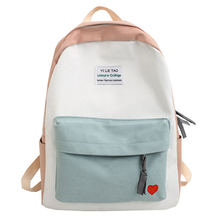 Fashion Women Cotton Backpack Black School Bag Female Bookbag For Teenagers Mochila Girl College