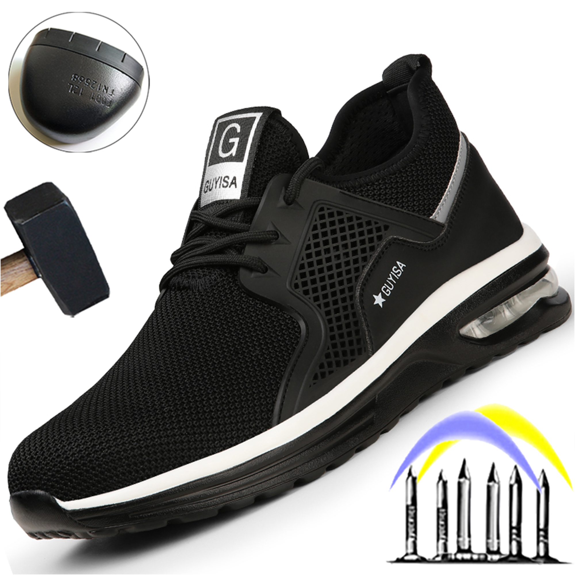 Breathable Light Safety Shoes Men Puncture Proof Work Sneakers Male Indestructible Footwear Work Boots Steel Toe Shoes 2021