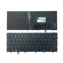 لوحة مفاتيح dell الولايات المتحدة الجديدة XPS 15 9550 9560 لوحة مفاتيح الكمبيوتر المحمول الخلفية