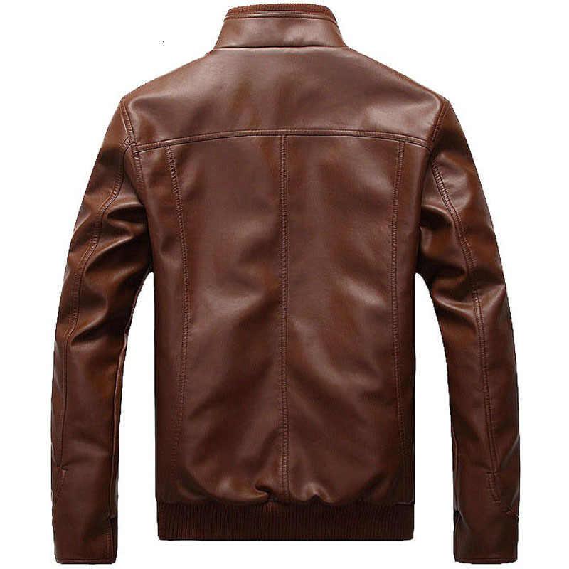 מכירה לוהטת עור מעיל גברים עיצוב צווארון עומד זכר מזדמן אופנוע מעיל עור Mens אופנה Veste En Cuir Pu מעילים