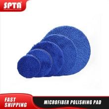 Spta 3/4/5/6/7 Polegada almofada de polimento de microfibra removendo almofadas de tampão de cera substituíveis almofadas de polimento micro fibra para o polidor da da/ro