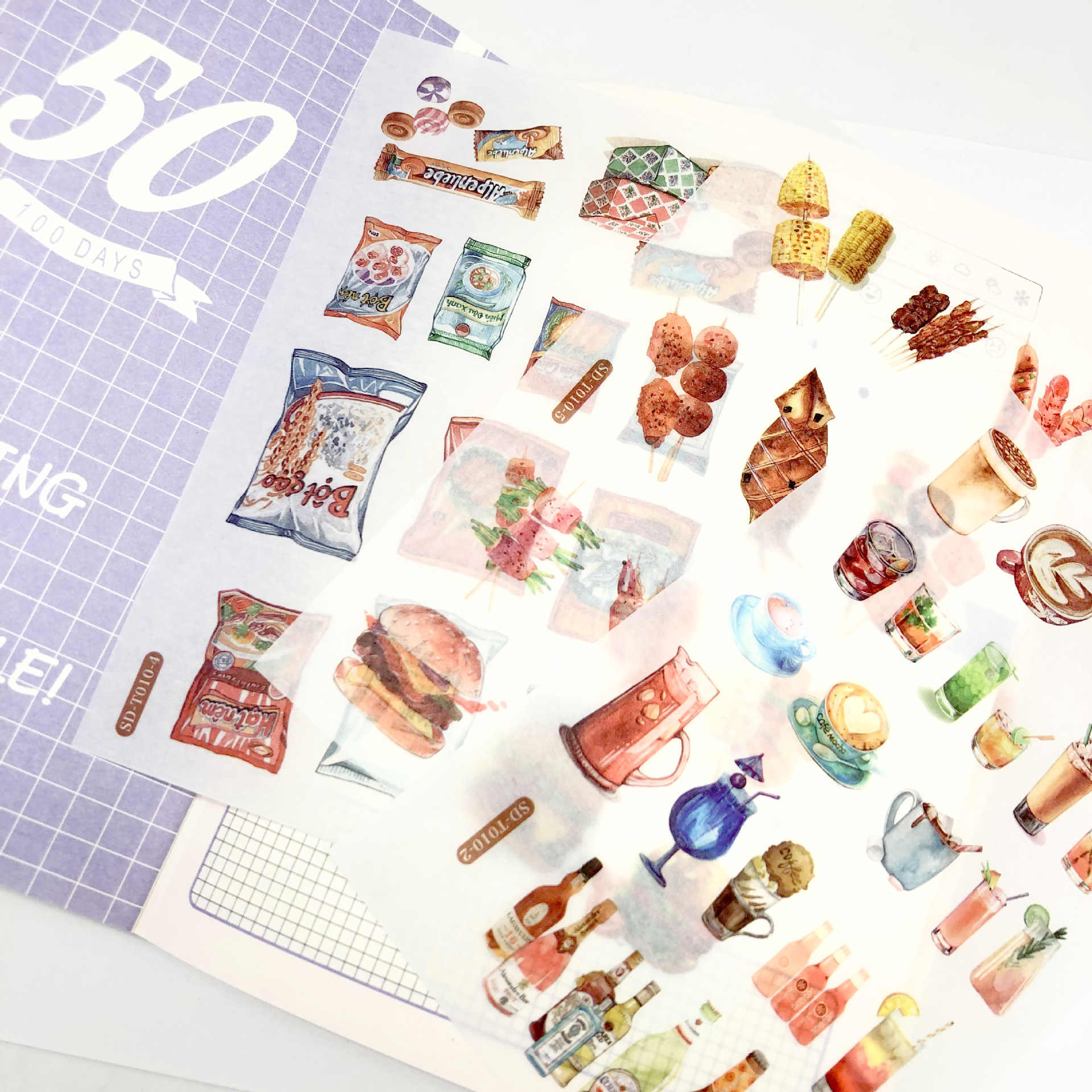 24 style kawaii Jellyfish sticker whale lovely girl cocktail sticky Diary Scrapbooking post-it Decorative Stickers Handmade