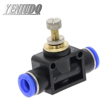цена на SA Pneumatic Fittings 4mm to 12mm OD Hose Tube Gas Flow Adjust Valve Connector Fitting Air Speed Controller