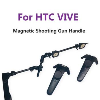 For HTC VIVE VR Game Shooting Gun Double Handle VR Controller Adjustable Bracket Magnetic Buttstock