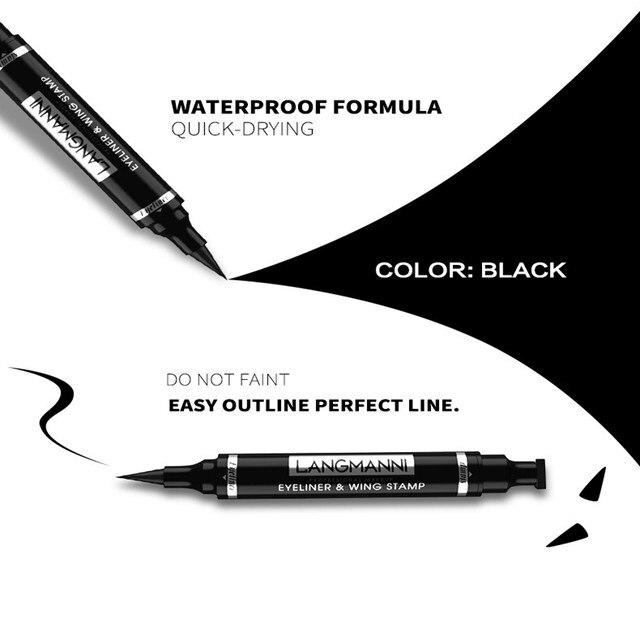 Liquid Eyeliner Pencil Double-headed Makeup Long Lasting Sexy Waterproof Quick Dry Eyeliner Pen Stamp Big Eye Cosmetics TSLM1 6
