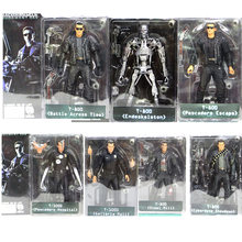 7 tipos 18cm NECA O Exterminador Do Futuro T-800 T-1000 2 Action Figure PVC Toy Action Figure Toy Modelo(China)