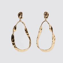 2020 Vintage Geometric Big Earrings Statement Gold Drop Earring for Women Fashion Metal Hanging Dangle Earring Party Jewelry women female vintage big dangle drop earring sets fashion geometric metal earrings jewelry wholesale xj w17