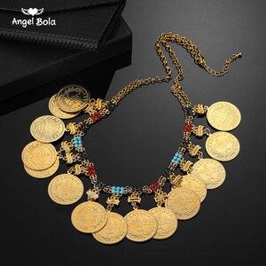 Image 1 - Colliers arabes pour femmes, grand Allah, grande pièce en métal, pour cadeau de mariage de luxe, bijou musulman et africain moyen orient, nouvelle collection