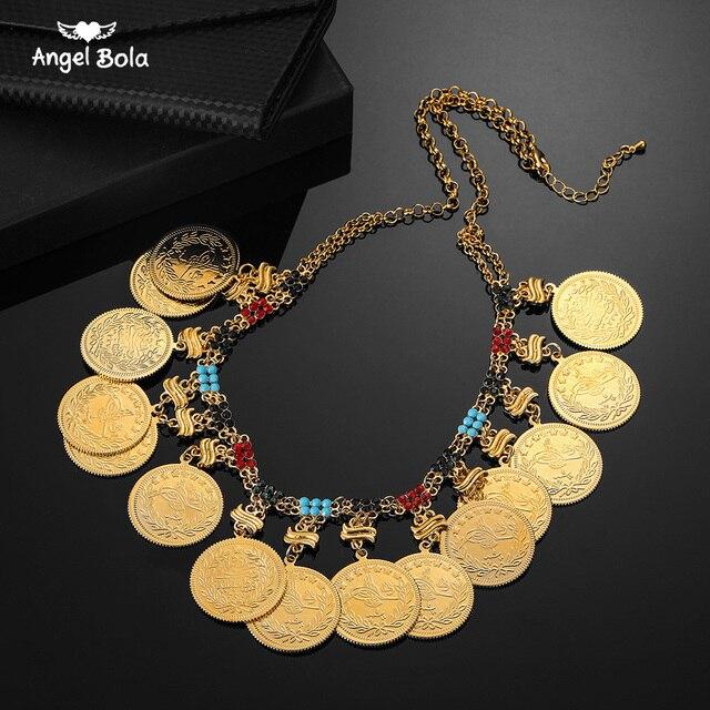Colliers arabes pour femmes, grand Allah, grande pièce en métal, pour cadeau de mariage de luxe, bijou musulman et africain moyen orient, nouvelle collection