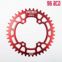 자전거 Chainwheel 96BCD 둥근 모양 좁은 넓은 사슬 반지 34T-48T Shimano M7000 M8000 m9000를위한 알루미늄 합금 자전거 Chainwheel