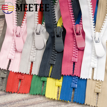 Meetee 2pcs 20cm 8# Resin Zippers Close-end Tail Single Slider for Coat Pocket Outdoor Handbag DIY Sewing Accessories ZA210
