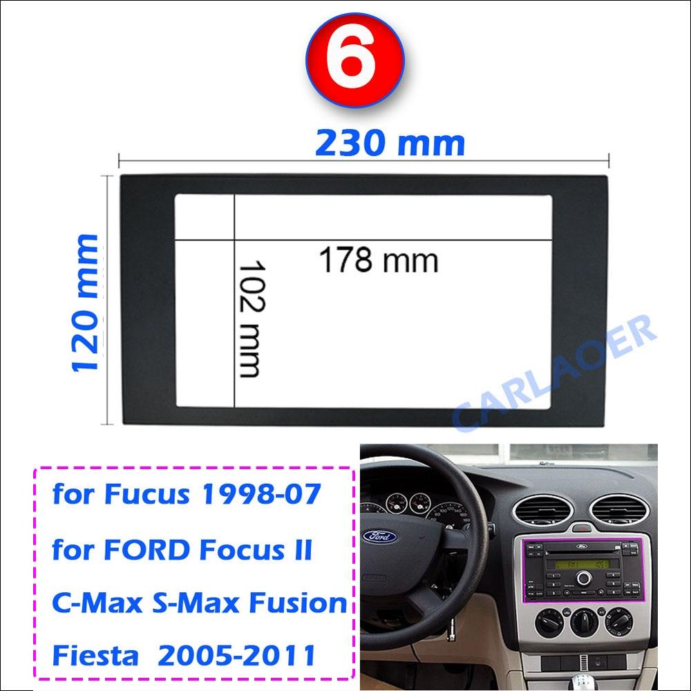 Автомобильная рамка для универсального 2 Din Авто Радио/android плеер рамка для модификации декоративная рамка 178x102 мм панель без зазора - Название цвета: FORD