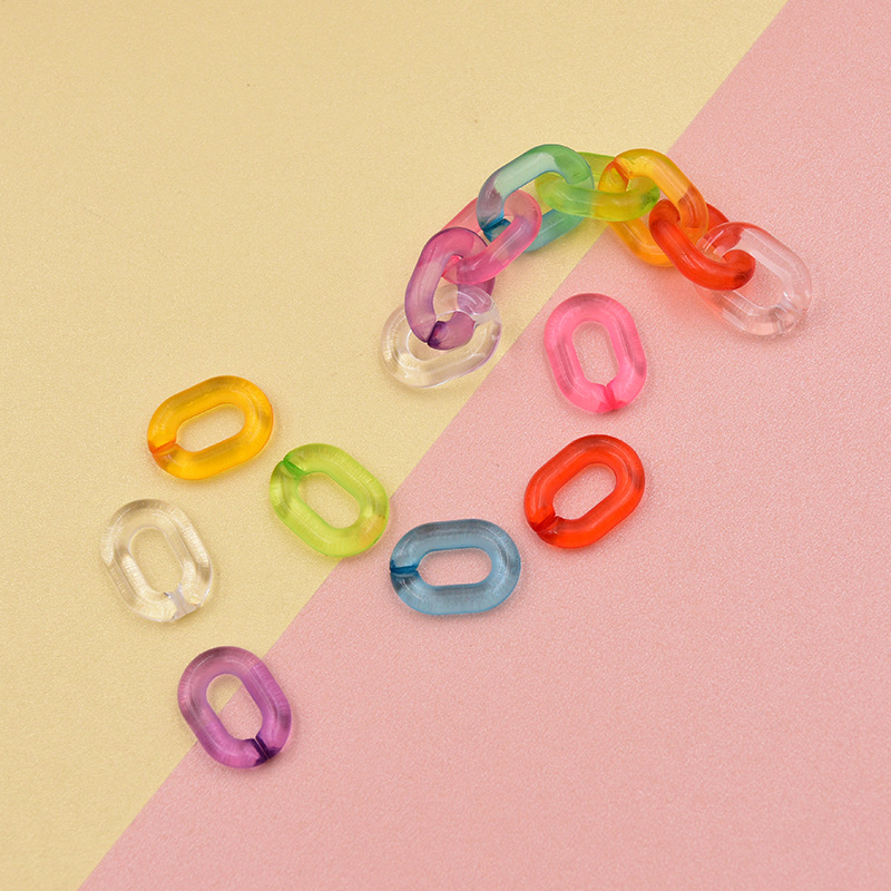 100 pces 20*14mm doce cor combinação rachado acrílico corrente conectores para diy jóias fazendo sunglass corrente jóias acessórios
