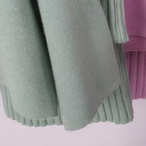 Image 5 - GOPLUS Winter Womens Tracksuit Knitted Suit Two Piece Set Women Casual Round Neck Sweater V neck Mini Dress Conjunto Feminino