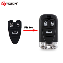 YIQIXIN 1 шт./лот 3 кнопки силиконовой резины для Alfa Romeo 159 Brera 156 черный паук смарт-карты корпус Авто ключи колодки