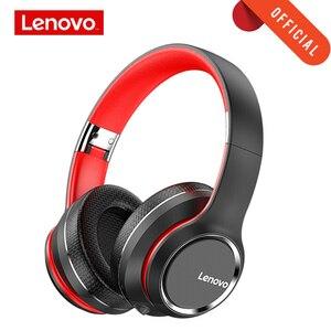 Наушники Lenovo, беспроводная Bluetooth 5,0 гарнитура, интеллектуальное шумоподавление, HIFI Звук, эффект 40 мм, большой рог, супер бас с микрофоном