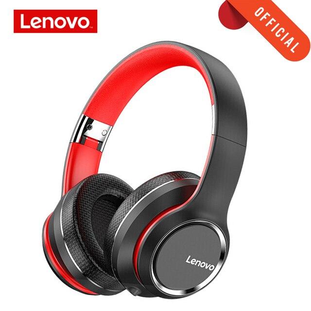 Lenovo Headphone Wireless Bluetooth 5.0 Headset Intelligent Noise Reduction HIFI Sound Effect 40MM Big Horn Super Bass with Mic