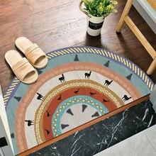 Противоскользящий коврик для входной двери, стиль бохо, ковер для спальни, полукруглый, водопоглощающий коврик для ванной, коврики для ванн...