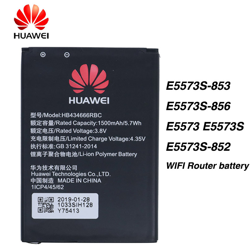 Original Huawei HB434666RBC 1500mAh WIFI Router Battery For Huawei E5573S-853 E5573S-856 E5573 E5573S E5573S-852