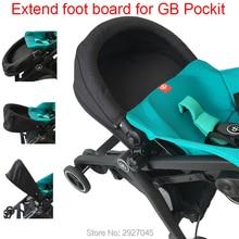 Accesorios de cochecito de bebé extensible footboard extensión reposapiés para Goodbaby Pockit 2019/ Pockit plus(no para toda la ciudad)