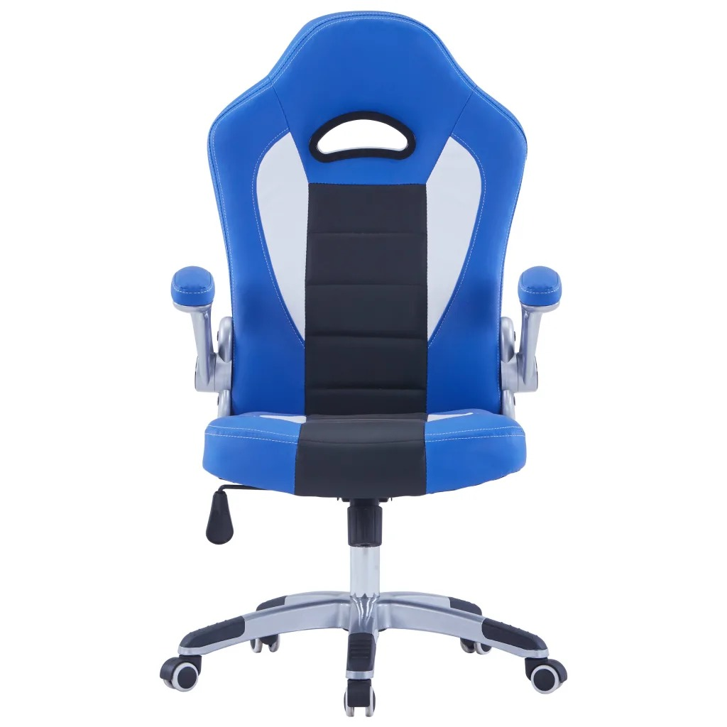 VidaXL Ergonomic Design Leatherette Gaming Chair Furniture 360 Degree Swivel Computer Chair Adjustable Armrests Office Chair