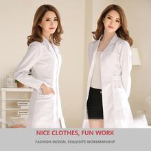 Unissex branco casaco de laboratório médico médico magro enfermeira uniforme spa uniforme de enfermagem uniforme esfrega uniformes médicos